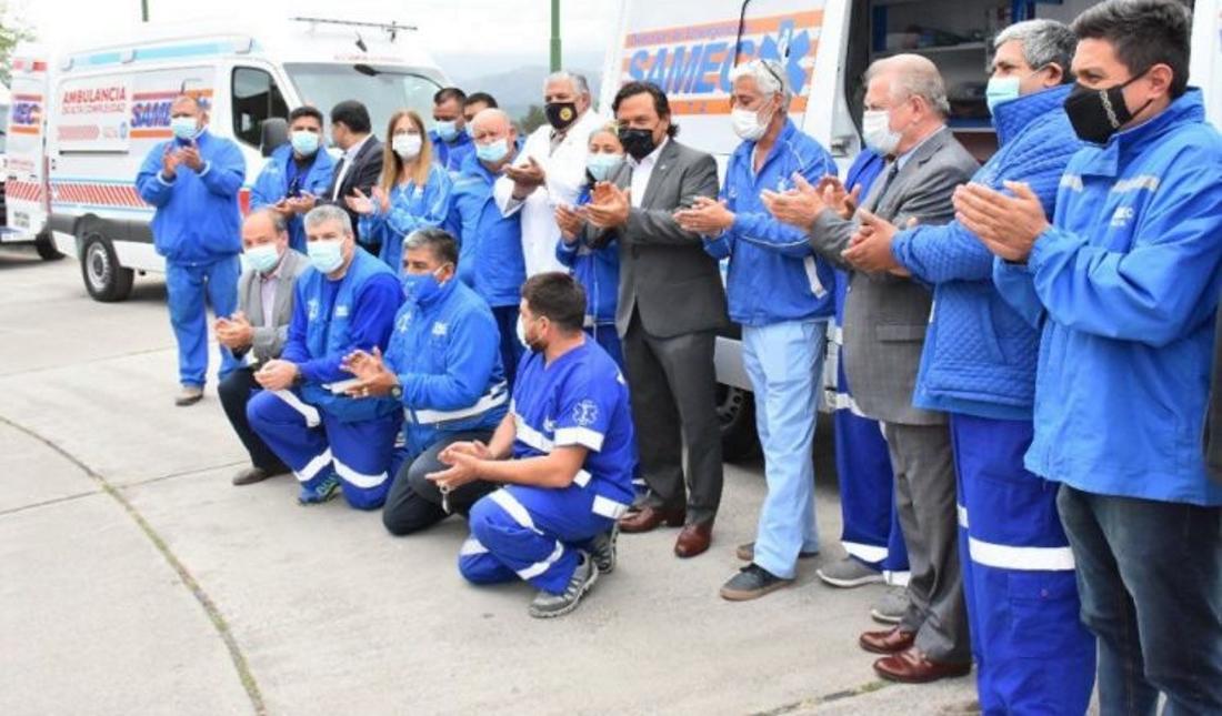 Con 65 nuevas ambulancias la gestión Sáenz fortaleció la salud pública