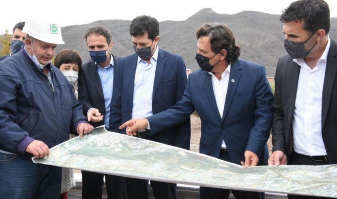 Sáenz, Katopodis y De Pedro verificaron las obras hídricas en el Parque Industrial de Salta
